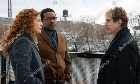 Rachelle Lefevre as Madeline Scott, Russell Hornsby as Ezekiel 'Easy' Boudreau and John Shea as Sam Marshall