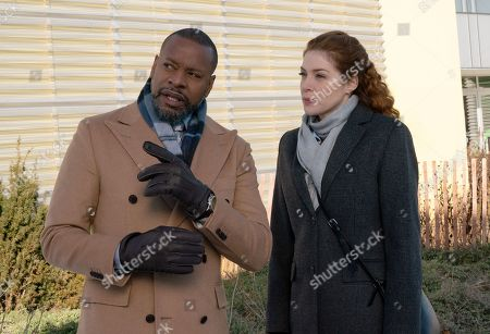 Stock Picture of Sherman Augustus as Troy Dalton and Rachelle Lefevre as Madeline Scott