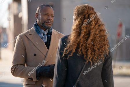 Stock Photo of Sherman Augustus as Troy Dalton and Rachelle Lefevre as Madeline Scott