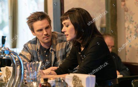 Riley Smith as Levi Scott and Heidi Johanningmeier as Linda Barrett