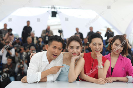 Midi Z, Vivian Sung Yun-hua, Wu Ke-xi, Hsia Yu-chiao. Director Midi Z, from left, actresses Vivian Sung Yun-hua, Wu Ke-xi and Hsia Yu-chiao pose for photographers at the photo call for the film 'Nina Wu'' at the 72nd international film festival, Cannes, southern France