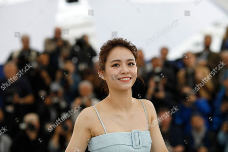 Stock Photo of Actress Vivian Sung Yun-hua poses for photographers at the photo call for the film 'Nina Wu'' at the 72nd international film festival, Cannes, southern France