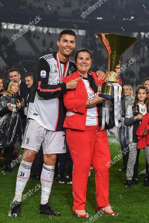 Stock Photo of Cristiano Ronaldo (Juventus) and mother Dolores Aveiro