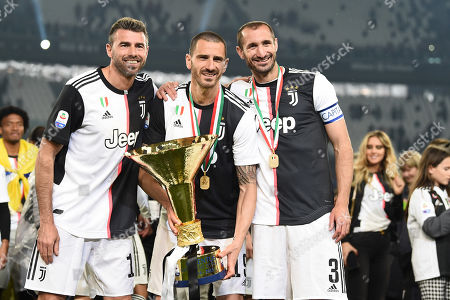 Stock Photo of Andrea Barzagli (Juventus), Leonardo Bonucci (Juventus), Giorgio Chiellini (Juventus)