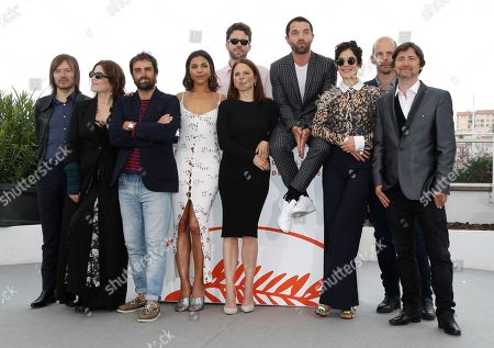 Stock Image of Jean-Benoit Dunckel, Agnes Jaoui, Gregory Montel, Zita Hanrot, Charles Bosson, Suzanne Clement, Guillaume Gouix, Melanie Doutey, Pascal Sangla and Ferdinand Berville pose during the Talents Adami photocall at the 72nd annual Cannes Film Festival, in Cannes, France, 21 May 2019. The festival runs from 14 to 25 May.