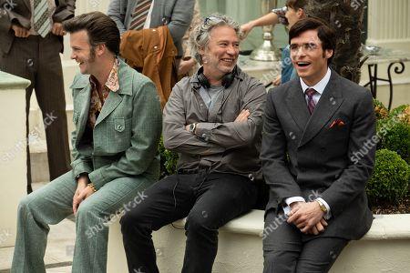 Tom Bennett, Dexter Fletcher Director and Richard Madden as John Reid