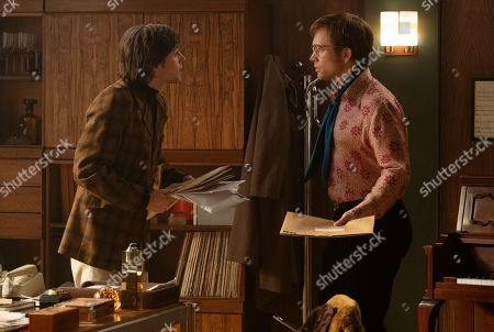 Charlie Rowe as Ray Williams and Taron Egerton as Elton John