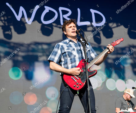 Stock Picture of Jim Adkins performs at Hangout Music Festival.
