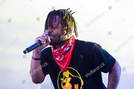 Stock Photo of MadeinTYO performs at Hangout Music Festival.
