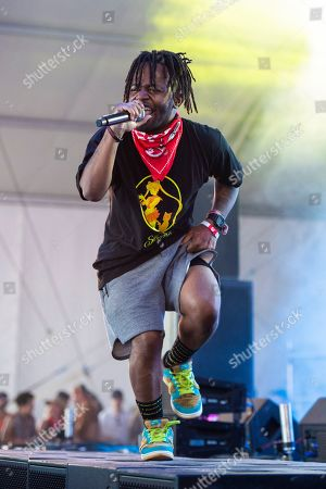 Stock Image of MadeinTYO performs at Hangout Music Festival.