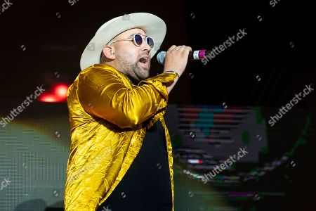 Stock Image of Parson James performs at Hangout Music Festival.