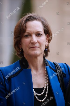 US writer Anne Applebaum leaves the Elysee following his meeting with French President Emmanuel Macron (not pictured) and others European Philosophers and Intellectuals in Paris, France, 21 May 2019.
