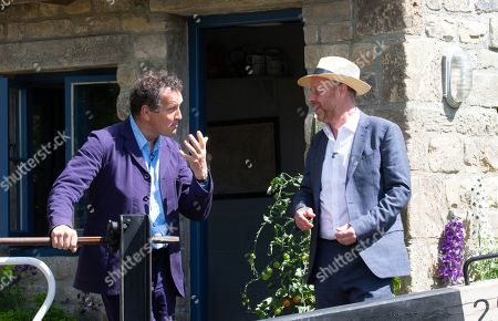 Television presenters Monty Don and Joe Swift