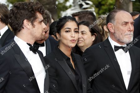 Arthur Dupont, French actress Leila Bekhti and Italian director Lorenzo Mattotti at the screening of 'Once Upon a Time in Hollywood'