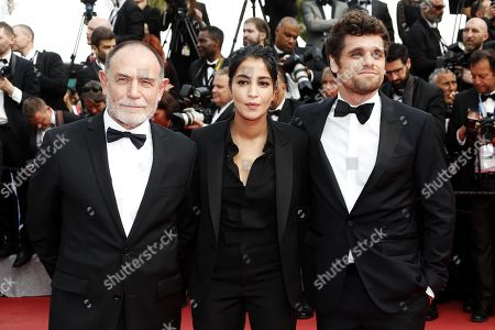 Italian director Lorenzo Mattotti, French actress Leila Bekhti and French actor Arthur Dupont at the screening of 'Once Upon a Time in Hollywood'