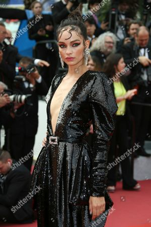Luma Grothe poses for photographers upon arrival at the premiere of the film 'Once Upon a Time in Hollywood' at the 72nd international film festival, Cannes, southern France