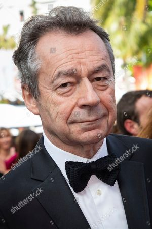 Michel Denisot poses for photographers upon arrival at the premiere of the film 'Once Upon a Time in Hollywood' at the 72nd international film festival, Cannes, southern France