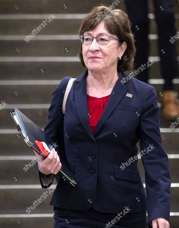 Republican Senator from Maine Susan Collins arrives to attend a classified intelligence briefing on Iran to members of the US Senate at the Capitol in Washington, DC, USA, 21 May 2019. The administration of President Trump is briefing Congress on intelligence that has prompted the US military build up against reported Iranian threats in the Persian Gulf region.