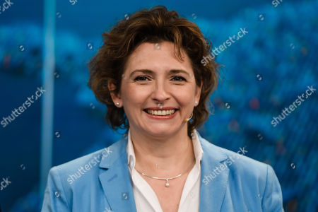 The top candidate for the upcoming European Parliament Elections, Free Democratic Party (FDP) deputy chairwoman Nicola Beer attends the television debate 'How's it going, Europe?' (Wie geht's Europa?) ahead of the European election with the heads of the German Parties in Berlin, Germany, 21 May 2019.