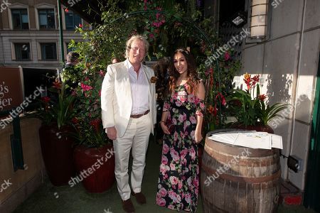Ranald Macdonald, Boisdale managing director  and singer Rebecca Ferguson attend the launch of The Jamaica One Love Garden at Boisdale venue, Canary Wharf. The 65-meter garden terrance has been transformed into The Jamaica One Love Garden designed by Bruce Dallow, Director of Plant Plan.