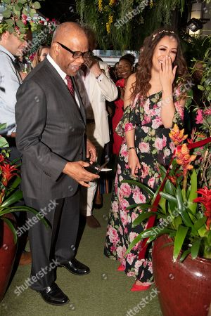 Stock Photo of High Commissioner of Jamaica His Excellency Mr. Seth George Ramocan and singer Rebecca Ferguson open The Jamaica One Love Garden at Boisdale venue, Canary Wharf. The 65-meter garden terrance has been transformed into The Jamaica One Love Garden designed by Bruce Dallow, Director of Plant Plan.