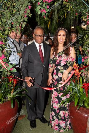 High Commissioner of Jamaica His Excellency Mr. Seth George Ramocan and singer Rebecca Ferguson open The Jamaica One Love Garden at Boisdale venue, Canary Wharf. The 65-meter garden terrance has been transformed into The Jamaica One Love Garden designed by Bruce Dallow, Director of Plant Plan.