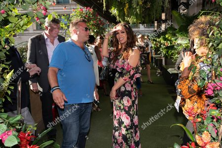 Stock Picture of Rebecca Ferguson attends the launch of The Jamaica One Love Garden at Boisdale venue, Canary Wharf. The 65-meter garden terrance has been transformed into The Jamaica One Love Garden designed by Bruce Dallow, Director of Plant Plan.