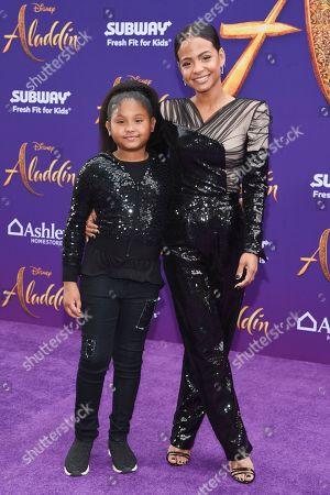 Violet Madison Nash and Christina Milian