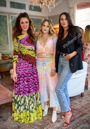 Rosanna Falconer, Rosie Fortescue and Lily Fortescue