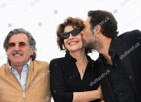 Daniel Auteuil, Fanny Ardant and Nicolas Bedos