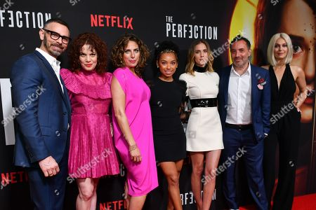 Eric Charmelo, Nicole Snyder, Stacey Reiss, Logan Browning, Allison Williams, Richard Shepard and Alaina Huffman