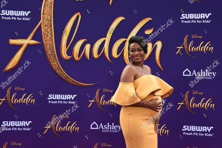 """Tatyana Ali arrives at the premiere of """"Aladdin"""", at the El Capitan Theatre in Los Angeles"""