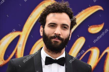 "Marwan Kenzari arrives at the premiere of ""Aladdin"", at the El Capitan Theatre in Los Angeles"