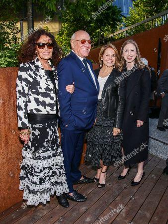 Diane von Furstenberg, Barry Diller, Katie Couric, Chelsea Clinton