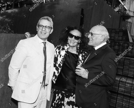 Andy Cohen, Diane von Furstenberg and Barry Diller
