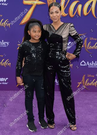 Stock Image of Christina Milian and daughter Violet Madison Nash