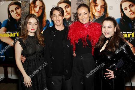 Kaitlyn Dever, Megan Ellison (CEO Annapurna Pictures), Olivia Wilde (Director), Beanie Feldstein