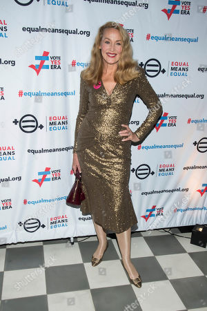 Jerry Hall attends the Equal Means Equal campaign for equal rights launch at The Times Square Edition, in New York