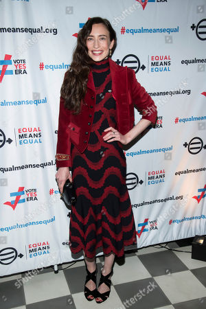 Stock Image of Lizzy Jagger, Elizabeth. Lizzy Jagger attends the Equal Means Equal campaign for equal rights launch at The Times Square Edition, in New York