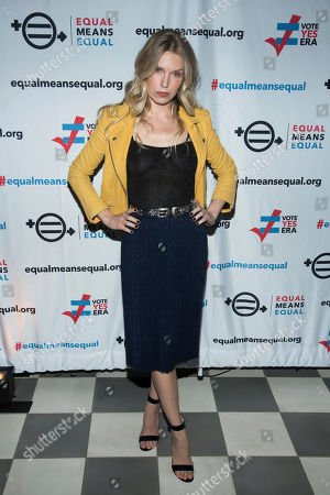Theodora Richards attends the Equal Means Equal campaign for equal rights launch at The Times Square Edition, in New York
