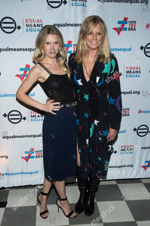 Theodora Richards, Patti Hansen. Theodora Richards, left, and Patti Hansen attend the Equal Means Equal campaign for equal rights launch at The Times Square Edition, in New York