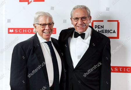 Carl Bernstein, Bob Woodward. PEN literary service award recipient Bob Woodward, right, poses with fellow journalist and author Carl Bernstein at the 2019 PEN America Literary Gala at the American Museum of Natural History, in New York