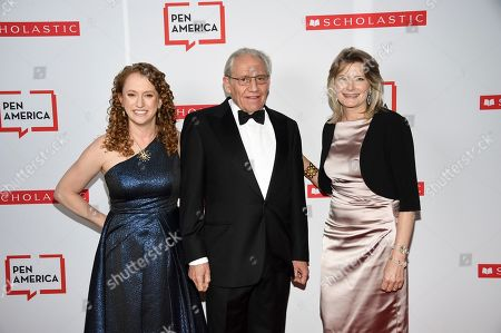 Suzanne Nossel, Bob Woodward, Jennifer Egan. PEN America CEO Suzanne Nossel, left, PEN literary service award recipient Bob Woodward and PEN America president Jennifer Egan attend the 2019 PEN America Literary Gala at the American Museum of Natural History, in New York