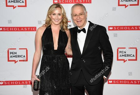 Ron Chernow, right, and guest attend the 2019 PEN America Literary Gala at the American Museum of Natural History, in New York