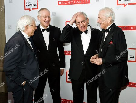 Carl Bernstein, Ron Chernow, Bob Woodward, Gay Talese. Authors Carl Bernstein, left, Ron Chernow, Bob Woodward and Gay Talese attend the 2019 PEN America Literary Gala at the American Museum of Natural History, in New York