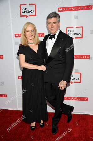 Stock Image of Anne Randolph Hearst, Jay McInerney. Author Jay McInerney, right, and wife Anne Randolph Hearst attend the 2019 PEN America Literary Gala at the American Museum of Natural History, in New York