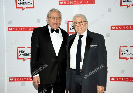 Bob Woodward, Carl Bernstein. PEN literary service award recipient Bob Woodward, left, poses with fellow journalist and author Carl Bernstein at the 2019 PEN America Literary Gala at the American Museum of Natural History, in New York