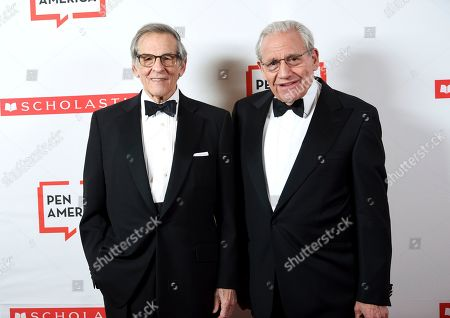 Stock Image of Robert Caro, Bob Woodward. Author Robert Caro, left, and PEN literary award recipient Bob Woodward pose together at the 2019 PEN America Literary Gala at the American Museum of Natural History, in New York