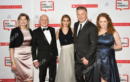 Stock Image of Jennifer Egan, Richard Robinson, Hilaria Baldwin, Alec Baldwin, Suzanne Nossel. PEN America president Jennifer Egan, left, PEN publisher award recipient Richard Robinson, Hilaria Baldwin, Alec Baldwin and PEN America CEO Suzanne Nossel pose together at the 2019 PEN America Literary Gala at the American Museum of Natural History, in New York