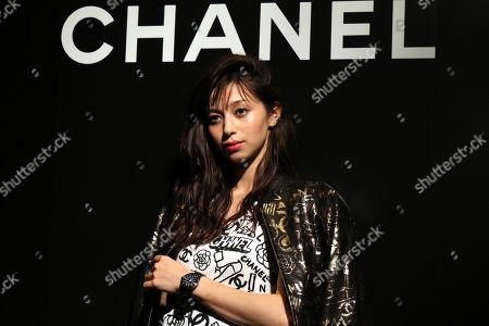 Ayami Nakajo displays the newly designed wristwatch 'J12'